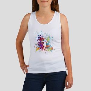 Color Splash Tennis Tshirt Women's Tank Top