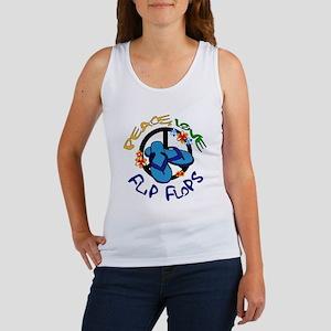 peace, love, flip-flops Women's Tank Top