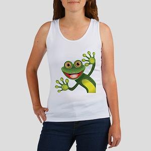 Happy Green Frog Tank Top