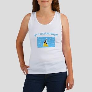 St Lucian Pride Women's Tank Top