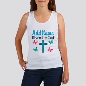 BLESSED BY GOD Women's Tank Top