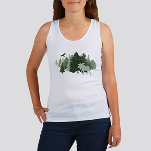 Moose in the Forest Tank Top