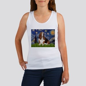 Starry Night Basset Women's Tank Top