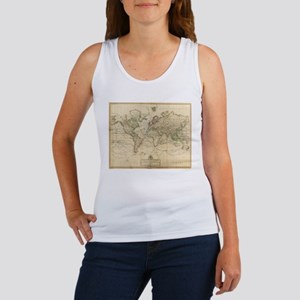 Vintage Map of The World (1800) Tank Top