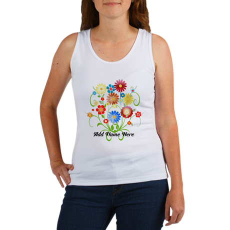 Personalized floral light Women's Tank Top