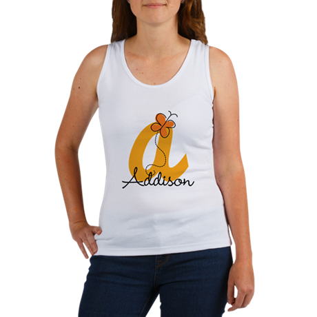 Custom A Monogram Women's Tank Top