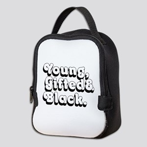 Young, Gifted & Black. Neoprene Lunch Bag