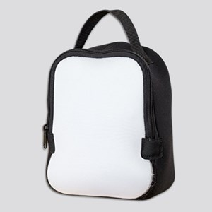 Solid white Neoprene Lunch Bag