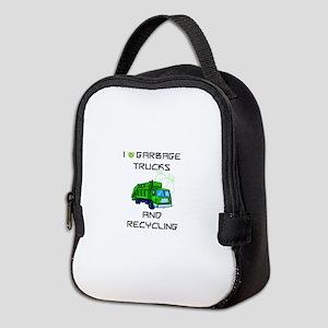 I Love Garbage Trucks And Neoprene Lunch Bag