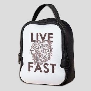 Live Fast Neoprene Lunch Bag