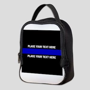 Thin Blue Line Customized Neoprene Lunch Bag