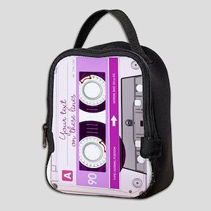 Cassette Tape - Pink Neoprene Lunch Bag