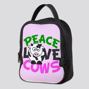 Cute Cow Love Neoprene Lunch Bag