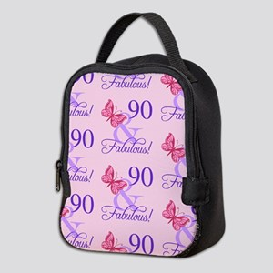 90 & Fabulous Birthday Neoprene Lunch Bag