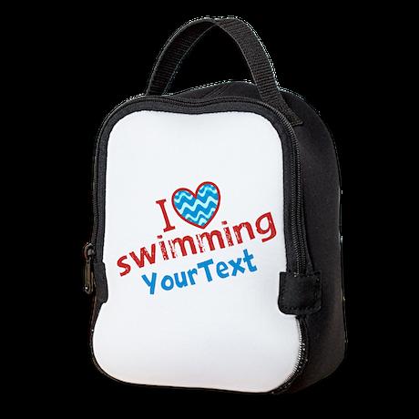 Swimming Optional Text Neoprene Lunch Bag