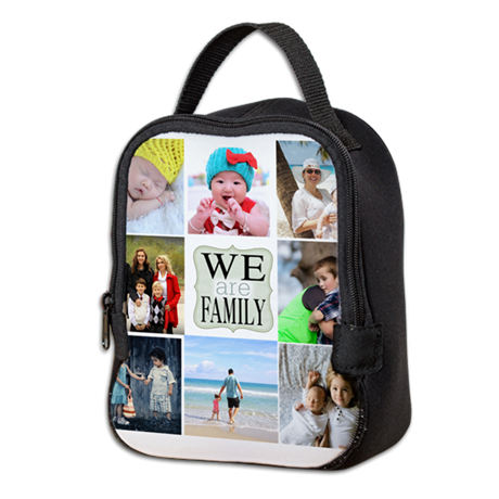 Custom Family Photo Collage Neoprene Lunch Bag