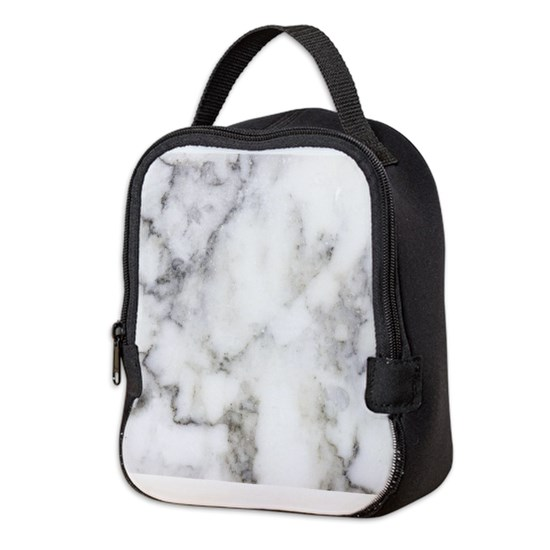 Trendy white and gray marble texture print