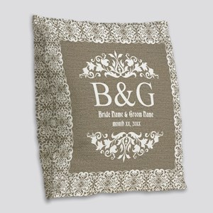 Personalize Bride And Groom Monogrammed Gift Burla