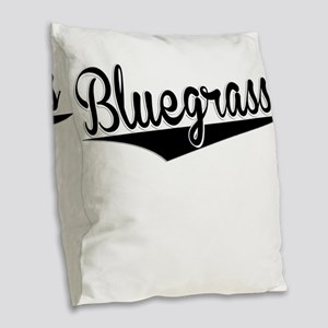 Bluegrass, Retro, Burlap Throw Pillow