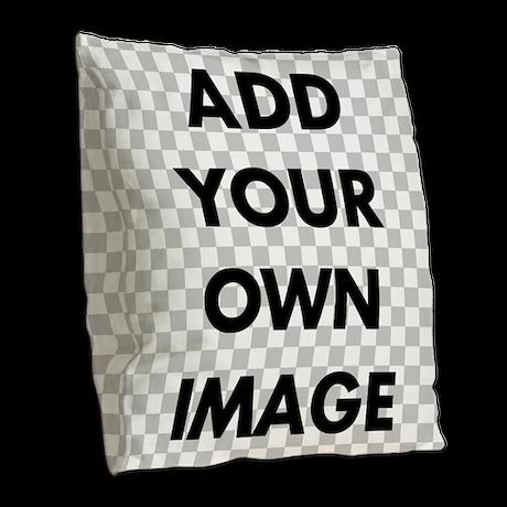Custom Add Image Burlap Throw Pillow