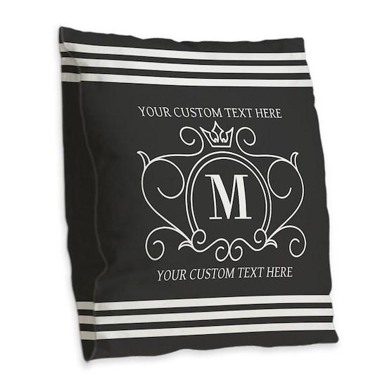 Gray Victorian Stripes Personalized