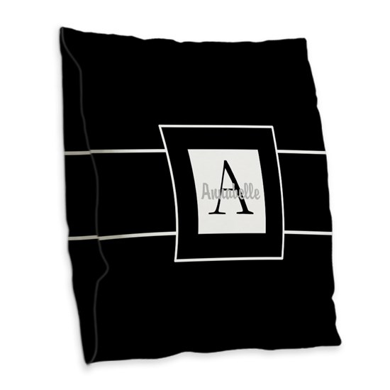 Black White Monogram Personalized