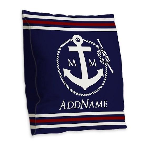Navy Nautical Rope and Anchor Monogram