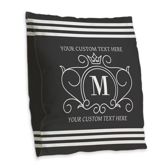 Gray Victorian Stripes Personalized