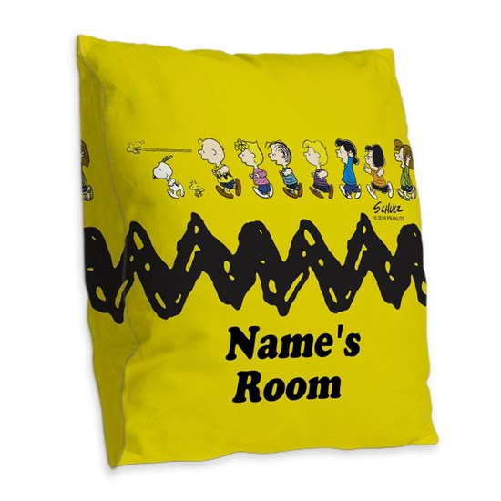 Peanuts Running Personalized Pillow