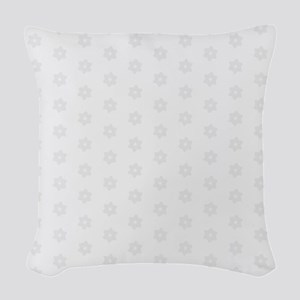 Ice Flowers Woven Throw Pillow