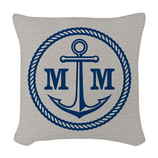 Front Monogrammed Anchor 2 Initials
