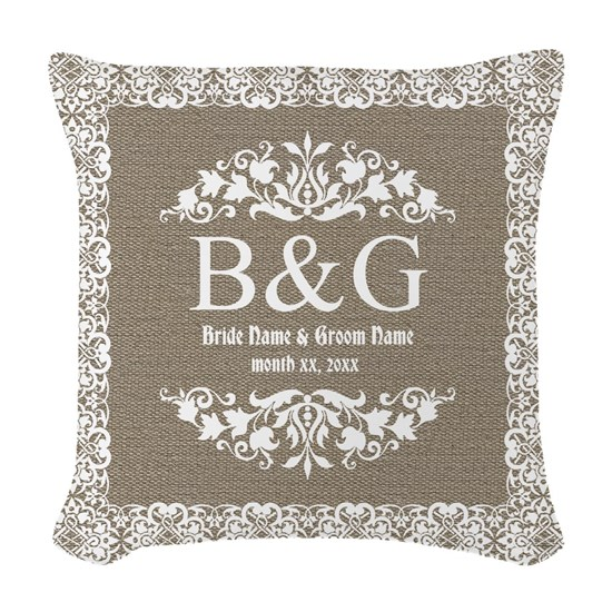 Personalize Bride And Groom Monogrammed Gift