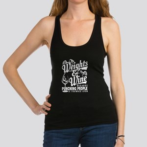 wine and weights Racerback Tank Top