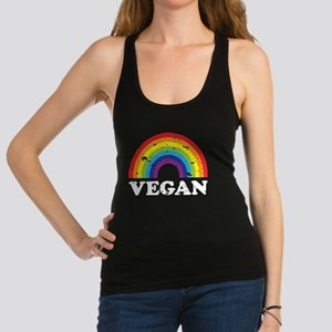 VeganRainbow_WhiteText Tank Top
