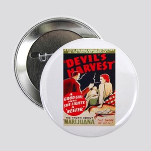 "Marijuana Devil's Harvest Pot 2.25"" Button"
