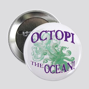 "Octopi the Ocean Light 2.25"" Button"