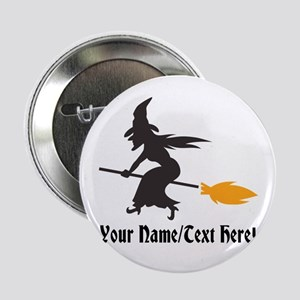 "Custom Personalized Halloween Witch 2.25"" But"