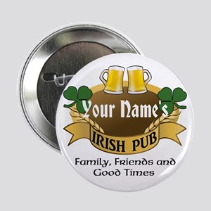Personalized Name Irish Pub 2.25&Quot; Button