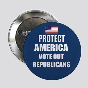 Vote Out Republicans Button