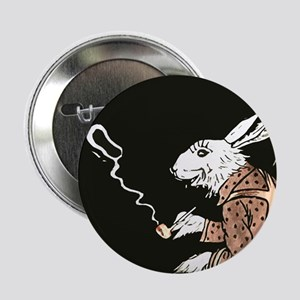 "Pipe Smoking rabbit 2.25"" Button"