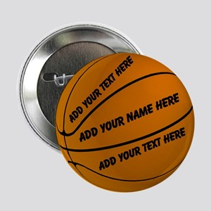 "Personalized Basketball 2.25"" Button"