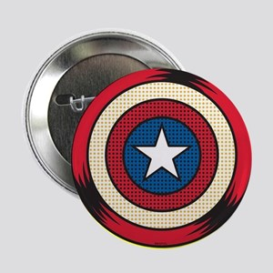 "Captain America Comic Shield 2.25"" Button"