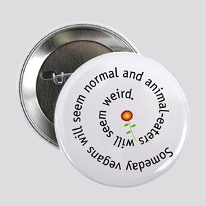 "Normal vegan 2.25"" Button"