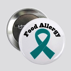 "Food Allergy Teal Ribbon 2.25"" Button"