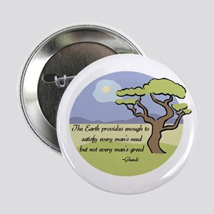 "Ghandi Earth quote 2.25"" Button"