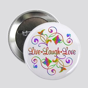 "Live Laugh Love Flourish 2.25"" Button"