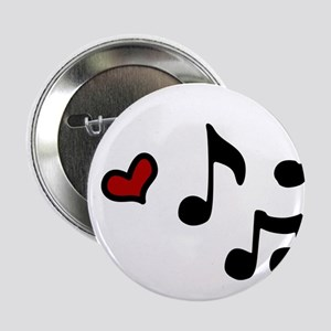 Music Note Heart Shaped Buttons - CafePress