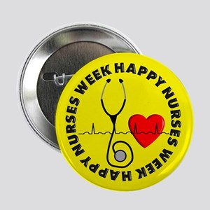 "Happy Nurses Week 2.25"" Button"