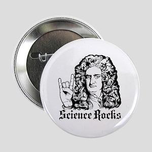 "Isaac Newton Science Rocks 2.25"" Button"