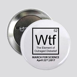 """Wtf Outraged Disbelief 2.25"""" Button"""